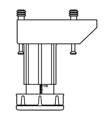 Alterna Bein 4-pk sort plast, høydejusterbare