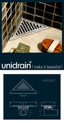 Unidrain Unidrain hjørne Classic Linesampakket komplett