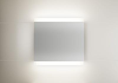 LinnBad Vik Speil M/Innfelt Lys Oppe/Nede Og Stikk 80 Cm