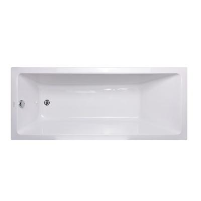 Badekar Kvadrat 150, pakke m/panel, 70cm bk.vegg, Skage Rainshower
