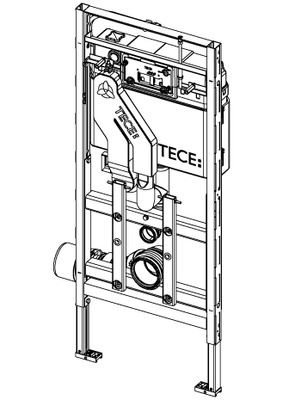 Tece Tec Elux Wc Modul 400. Høyde 1120 Mm. Høydejustering Av Skål. Luktavtrekk