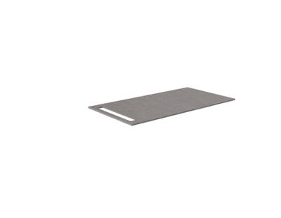 Benkeplate HPL 70 cm med håndkleholder, grå antrasitt
