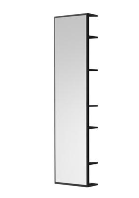 Hafa One speil helfigur med oppbevaring sort matt