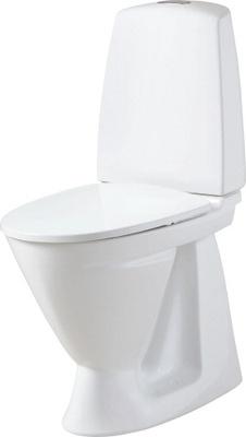 6861 Toalett, skjult S-lås, dobbelspyling, høy modell, f/liming, Fresh