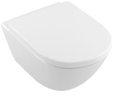 Toalettskål for veggmontering, 580x338 mm, Comfort, med  sete SC og QR