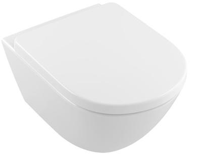 Villeroy & Boch Subway 2.0 Toalettskål for veggmontering, 580x338 mm, Comfort, med  sete SC og QR