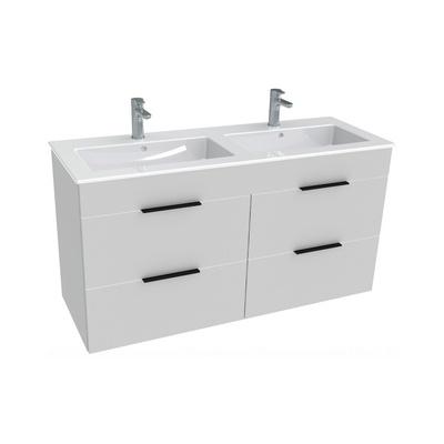 Laufen Jika Cube 120x43cm Baderomsmøbel inkludert dobbel porselensservant og 4 skuffer