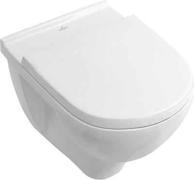O novo Toalett innbyggingspakke med ramme, krom trykknapp og V&B Onovo veggskål med SC:QR