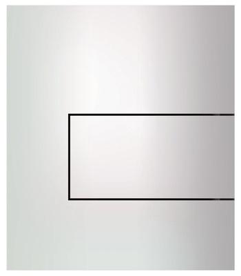 Tece Tec Esquare Urinal Betjeningsplate. Hvitlakkert Stål. Høyglans